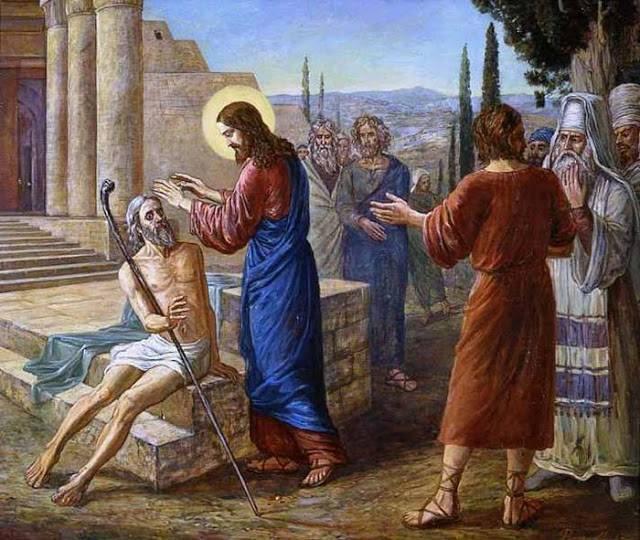 vindecarea orbului din ierihon